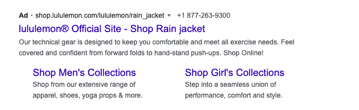 Google Ad Example #1